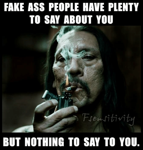 Ass, Fake, and Memes: FAKE ASS PEOPLE HAVE PLENTY  TO SAY ABOUT YOU  Frensitivit  BUT NOTHING TO SAY TO YOU.