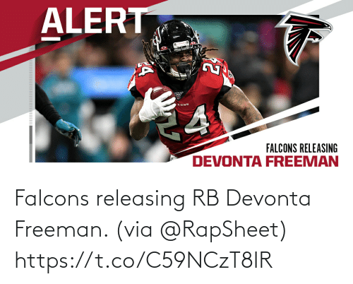 freeman: Falcons releasing RB Devonta Freeman. (via @RapSheet) https://t.co/C59NCzT8IR