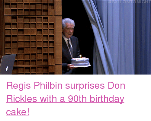 """Birthday, Target, and Cake: FALLONTONIGHT <p><a href=""""http://www.nbc.com/the-tonight-show/video/regis-philbin-gives-don-rickles-a-birthday-surprise/3051774"""" target=""""_blank"""">RegisPhilbinsurprises Don Rickles with a 90th birthday cake!</a></p>"""