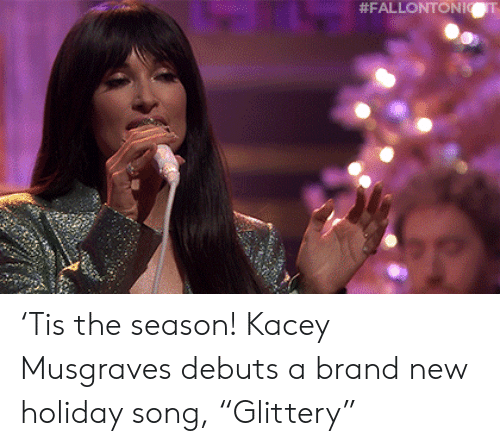 "Youtu: 'Tis the season! Kacey Musgraves debuts a brand new holiday song, ""Glittery"""
