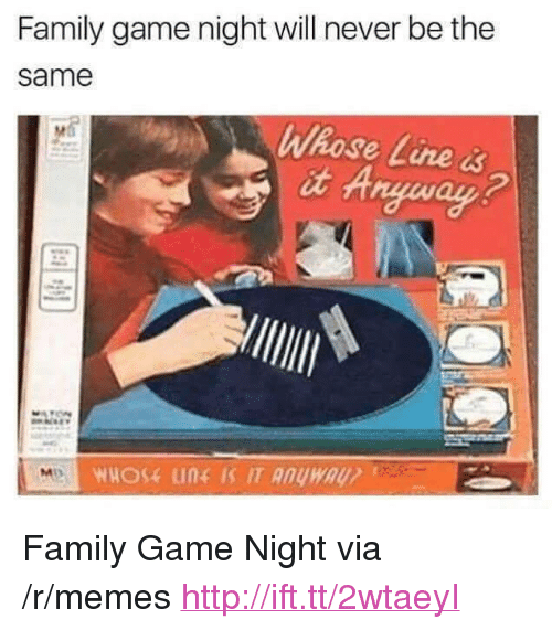 """whose line: Family game night will never be the  same  Whose Line &  it A <p>Family Game Night via /r/memes <a href=""""http://ift.tt/2wtaeyI"""">http://ift.tt/2wtaeyI</a></p>"""