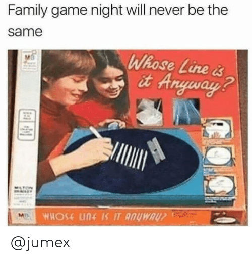 whose line: Family game night will never be the  same  Whose Line &  it Aryways  2 @jumex