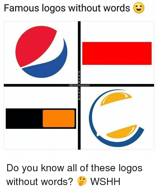 Logos: Famous logos without words  Ll  0 Do you know all of these logos without words? 🤔 WSHH
