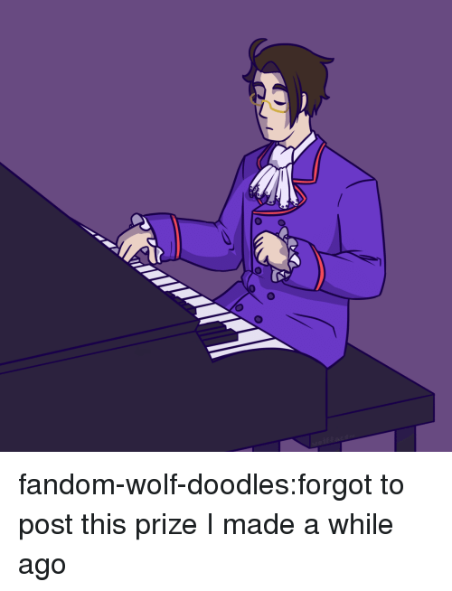 Target, Tumblr, and Blog: fandom-wolf-doodles:forgot to post this prize I made a while ago