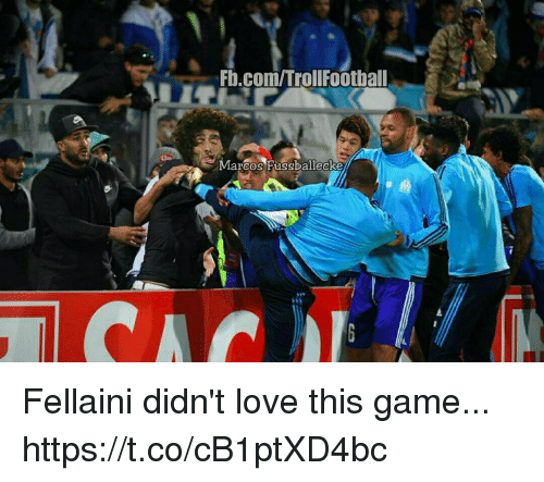 Love, Memes, and Game: FD.com/TrollFootball  Marcos Fussballecke Fellaini didn't love this game... https://t.co/cB1ptXD4bc