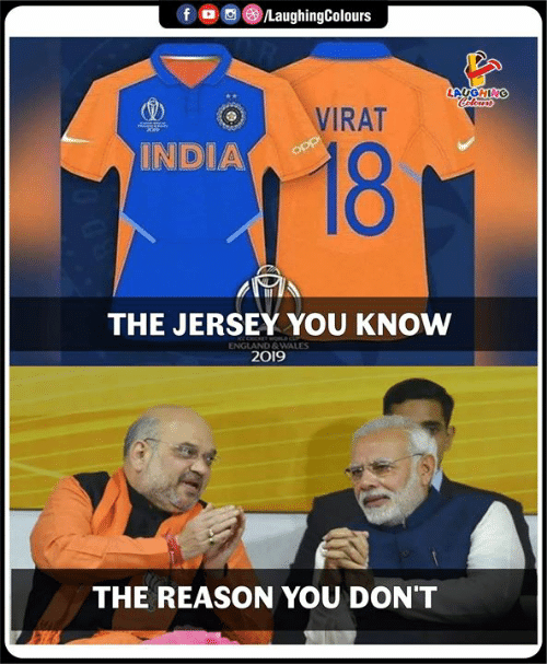 wales: fD  /LaughingColours  LAUGHING  Cdleurs  VIRAT  18  INDIA  opp  THE JERSEY YOU KNOW  ENGLAND&WALES  2019  THE REASON YOU DON'T