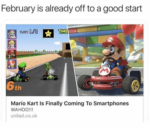 February Is Already Off To A Good Start Time 2 6th Mario