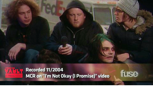"""Okay, Video, and Vault: FedE  HOM HE  VAULT  MCR on """"I'm Not Okay (I Promise)"""" video  Recorded 11/2004  fuse  er nvca"""