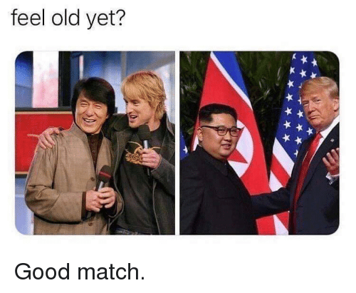 Feel Old Yet: feel old yet? Good match.