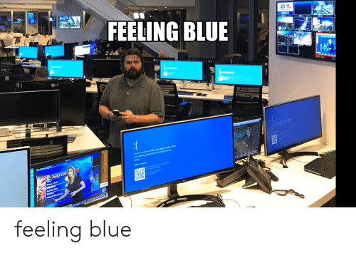 Blue, Rain, and Today: FEELING BLUE  10 T62  DEJERO (2)  EM 1-2  LA  LG  IFCAM 2  LG  LG  LG  MV6.SIn1  CR  NOW I PHILADELPH  Your PC ran into a problem and needs to restart We're  just collecting some error info, and then you can  restart  100% complete  CQUICK CAST  TODAY  Sunny, Cooler  WEDNESDAY  Soaking Rain  THURSDAY  40mph Wind Gusts  DUNKIN  TFIDENT MARTY SMALL AS MAYOR ATCECIAL ME feeling blue