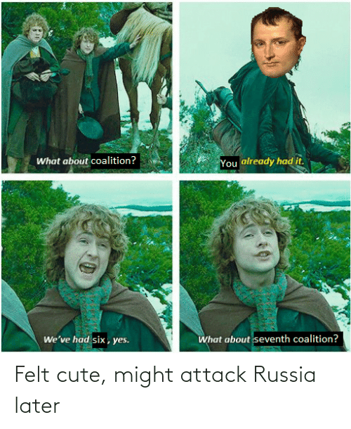 later: Felt cute, might attack Russia later