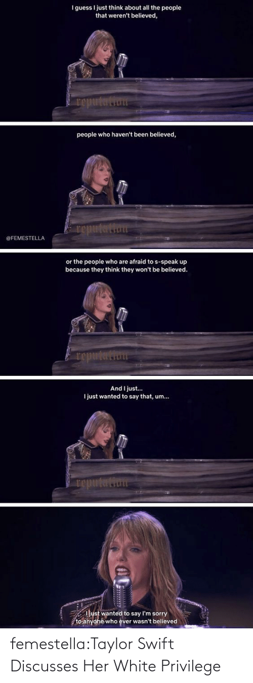 swift: femestella:Taylor Swift Discusses Her White Privilege