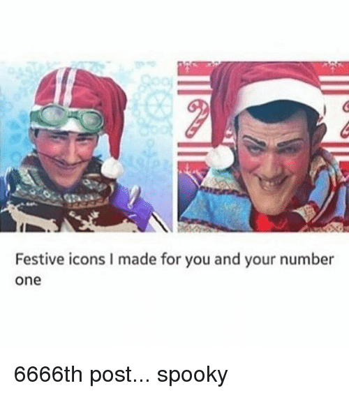 Spooki: Festive icons l made for you and your number  One 6666th post... spooky