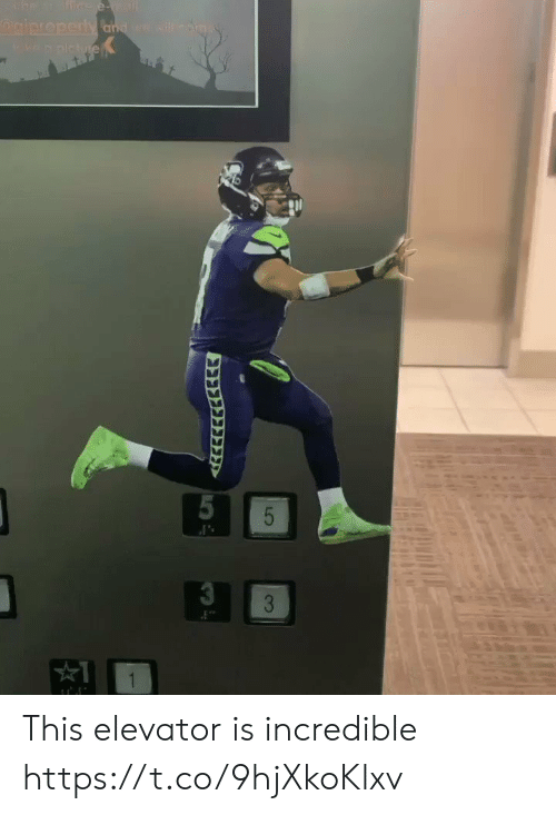 Nfl, Incredible, and This: ffice e-nail  giproperty and ga wil  wa plhe  5  3  1  LO  53 This elevator is incredible https://t.co/9hjXkoKlxv