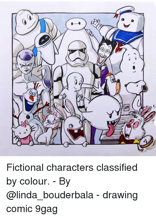 classified: Fictional characters classified by colour. - By @linda_bouderbala - drawing comic 9gag