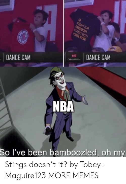 Dank, Memes, and Nba: FIGHT FOR  FREEDOM  STAND WIT  ONG KON  DANCE CAM  CLDARS SINAL  DANCE CAM  NBA  So I've been bamboozled, oh my Stings doesn't it? by Tobey-Maguire123 MORE MEMES