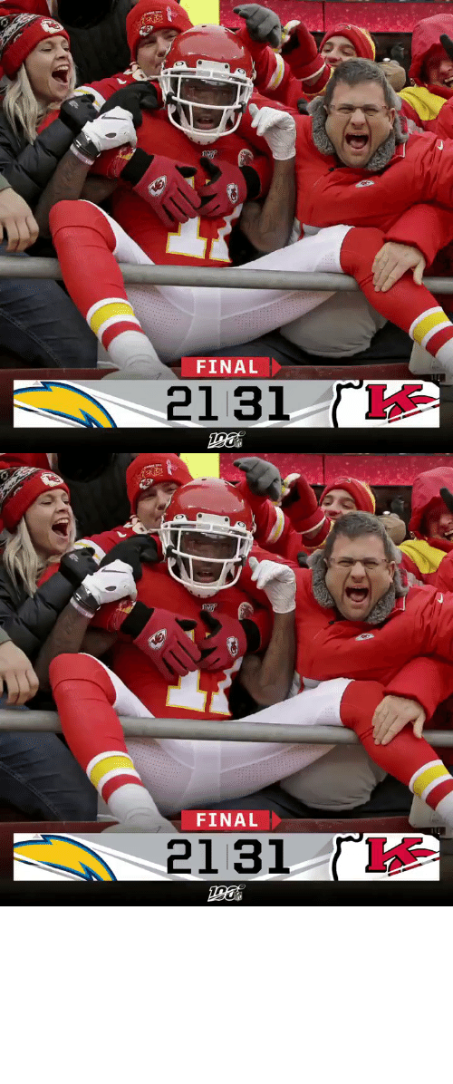 bye: FINAL  2131   FINAL  ΓΚ  2131 FINAL: @PatrickMahomes and the @Chiefs clinch a first-round bye! #LACvsKC https://t.co/W2k7ZZQnOX