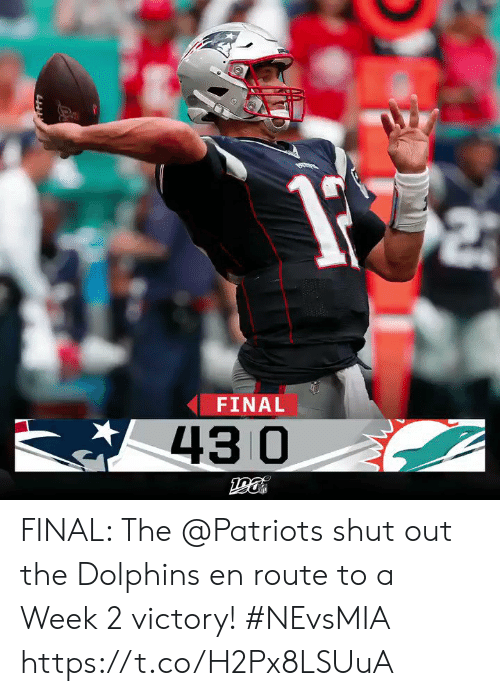 Memes, Patriotic, and Dolphins: FINAL  43 0 FINAL: The @Patriots shut out the Dolphins en route to a Week 2 victory! #NEvsMIA https://t.co/H2Px8LSUuA