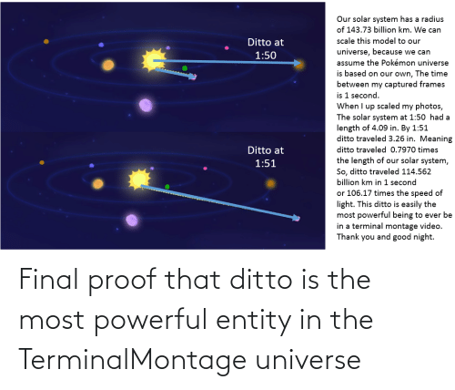 ditto: Final proof that ditto is the most powerful entity in the TerminalMontage universe