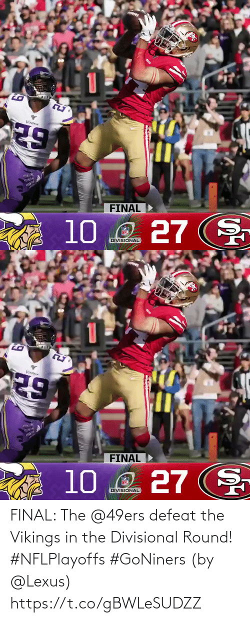 final: FINAL: The @49ers defeat the Vikings in the Divisional Round! #NFLPlayoffs #GoNiners  (by @Lexus) https://t.co/gBWLeSUDZZ