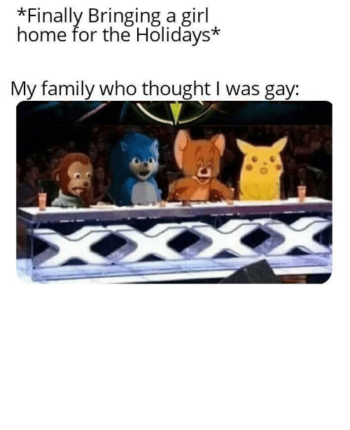 the holidays: Finally Bringing a girl  home for the Holidays*  My family who thought I was gay: No one will think you're gay if you invest in this bad larry! via /r/MemeEconomy http://bit.ly/2MLZg33