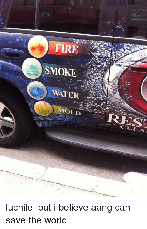Fire, Target, and Tumblr: FIRE  SMOKE  WATER  9  MOLID luchile:  but i believe aang can save the world