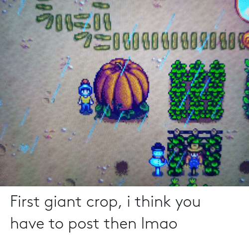 Giant: First giant crop, i think you have to post then lmao