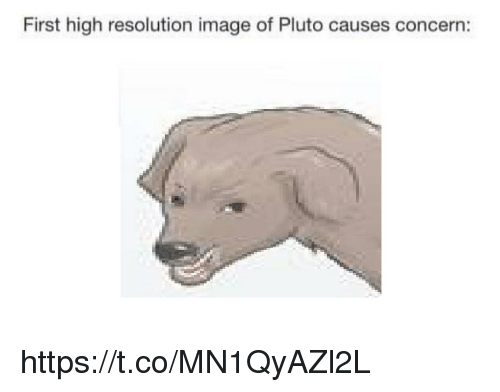 Image, Pluto, and Resolution: First high resolution image of Pluto causes concern: https://t.co/MN1QyAZl2L