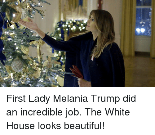 Beautiful, Melania Trump, and White House: First Lady Melania Trump did an incredible job. The White House looks beautiful!
