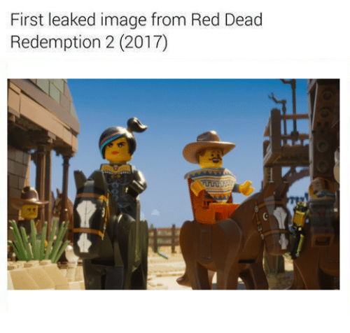 Image, Images, and Reds: First leaked image from Red Dead  Redemption 2 (2017)