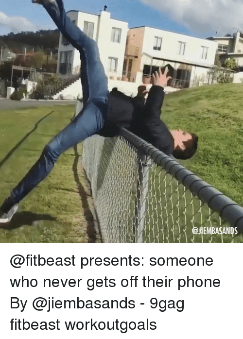 9gag, Memes, and Phone: @fitbeast presents: someone who never gets off their phone By @jiembasands - 9gag fitbeast workoutgoals