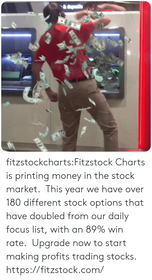 Printing: fitzstockcharts:Fitzstock Charts is printing money in the stock market.  This year we have over 180 different stock options that have doubled from our daily focus list, with an 89% win rate.  Upgrade now to start making profits trading stocks.  https://fitzstock.com/