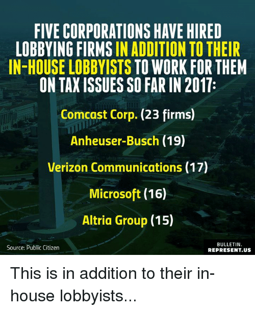 a comparison of the monsanto lobbying group and the altria group