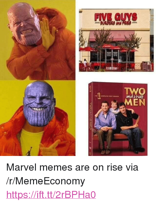 "Marvel Memes: FIVE GUYS  and a ha  REST SEASON <p>Marvel memes are on rise via /r/MemeEconomy <a href=""https://ift.tt/2rBPHa0"">https://ift.tt/2rBPHa0</a></p>"