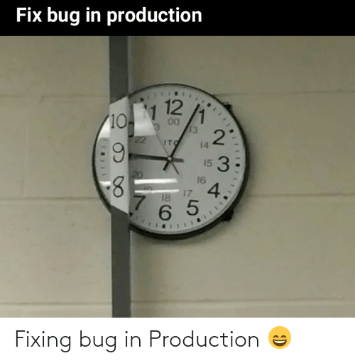 bug: Fixing bug in Production 😄