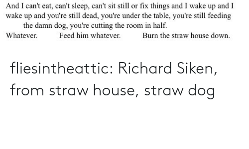 richard: fliesintheattic:  Richard Siken, from straw house, straw dog