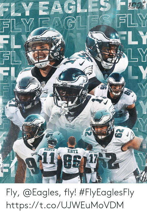 Philadelphia Eagles, Memes, and 🤖: FLY EAGLES 541  FLYFAGLES FLY  FL  FL  FI  FI  FLY  LY  LY  Y  ARE K  WENTZ  ERTZ  EARLYS  11  JEFFERY  EABLES Fly, @Eagles, fly! #FlyEaglesFly https://t.co/UJWEuMoVDM