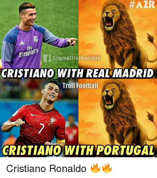 Trollings: Fly  Emirak  OriginalTrollFootball  CRISTIANO WITH REAL MADRID  Troll Foothall  CRISTIANO WITH PORTUGAL Cristiano Ronaldo 🔥🔥
