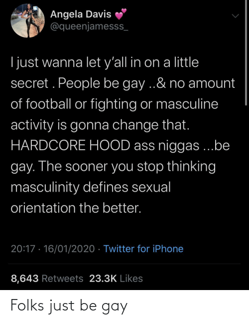 gay: Folks just be gay