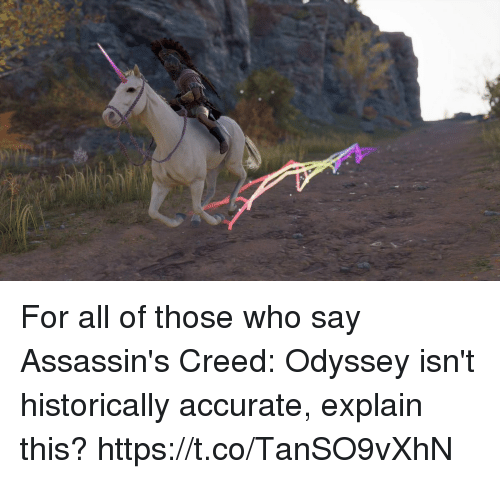 Assassin's Creed, Creed, and Odyssey: For all of those who say Assassin's Creed: Odyssey isn't historically accurate, explain this? https://t.co/TanSO9vXhN
