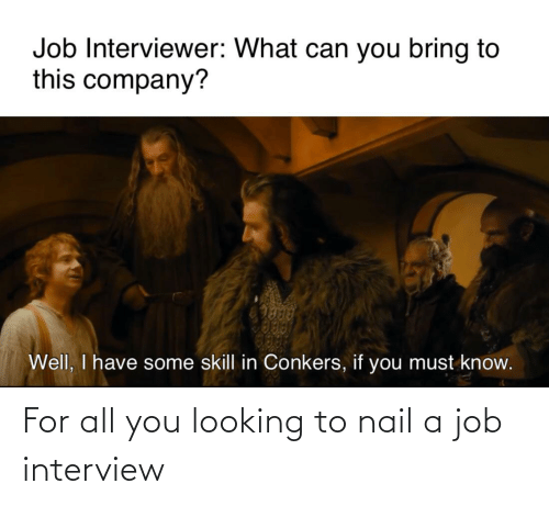 Job interview: For all you looking to nail a job interview