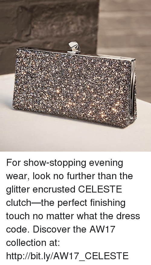 Clutchness: For show-stopping evening wear, look no further than the glitter encrusted CELESTE clutch—the perfect finishing touch no matter what the dress code. Discover the AW17 collection at: http://bit.ly/AW17_CELESTE