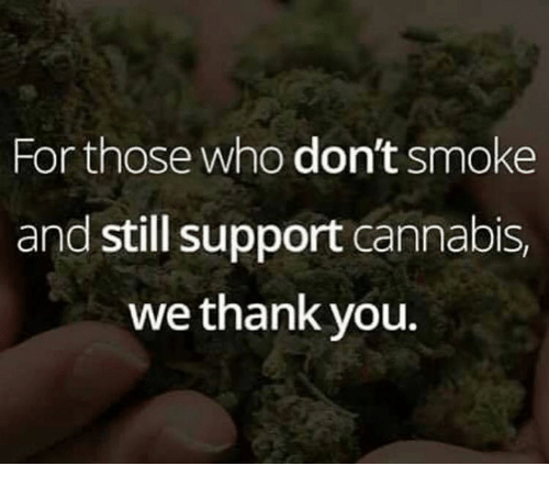 Cannabies: For those who don't smoke  and still support cannabis,  we thank you.
