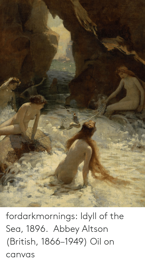 oil: fordarkmornings: Idyll of the Sea, 1896. Abbey Altson (British, 1866–1949) Oil on canvas