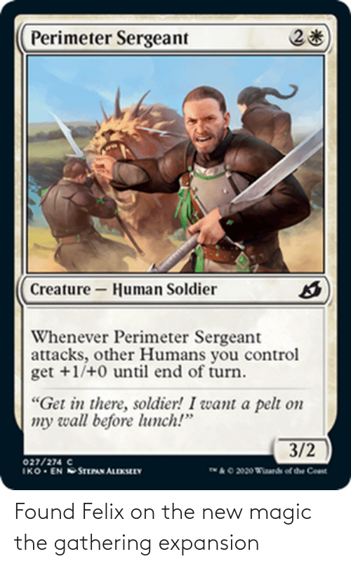 gathering: Found Felix on the new magic the gathering expansion