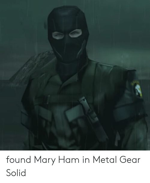Metal Gear, Metal, and Metal Gear Solid: found Mary Ham in Metal Gear Solid