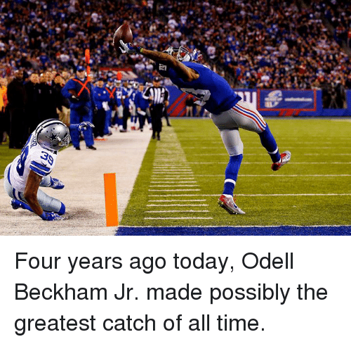 beckham jr: Four years ago today, Odell Beckham Jr. made possibly the greatest catch of all time.