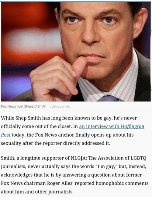 Fox news anchor blasts report that he was demoted because of his sexuality