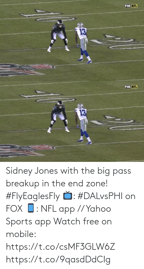 zone: FOX NFL   FOX NFL  GALLIP  13 Sidney Jones with the big pass breakup in the end zone! #FlyEaglesFly   📺: #DALvsPHI on FOX 📱: NFL app // Yahoo Sports app Watch free on mobile: https://t.co/csMF3GLW6Z https://t.co/9qasdDdCIg