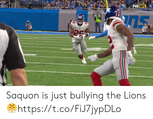 bullying: FOX NFL Saquon is just bullying the Lions 😤https://t.co/FiJ7jypDLo